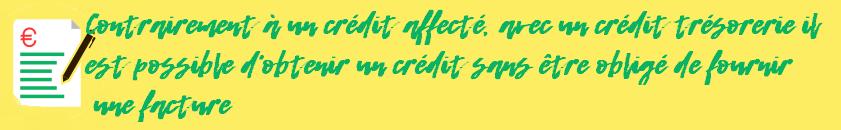 credit tresorerie