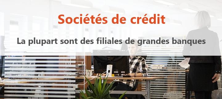 societe de credit filiales