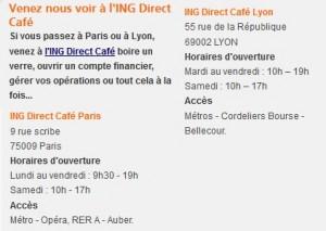 infos de contact ING direct